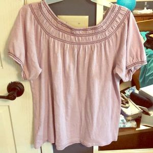 Old Navy cinched top and sleeve shirt